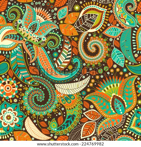 Colorful vector seamless pattern - stock vector