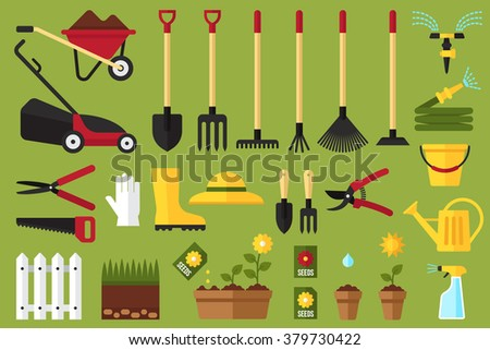Garden hose stock photos images pictures shutterstock for Tools and equipment in planting