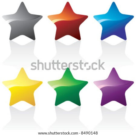 Colorful vector shiny stars