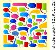 Colorful vector speech bubbles. - stock vector