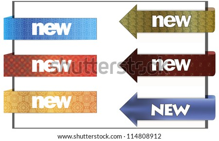 Colorful vector stickers for your site - stock vector