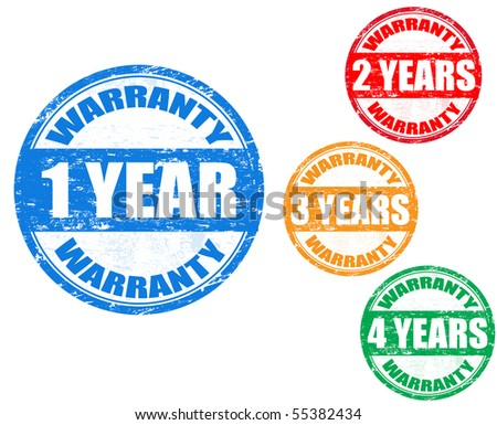colorful vector warranty stamps set - stock vector