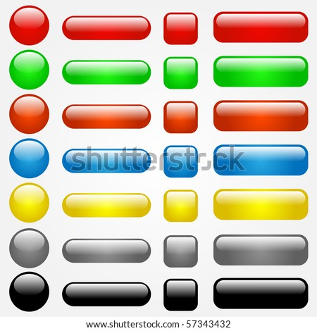 Colorful Vector Web Buttons - stock vector