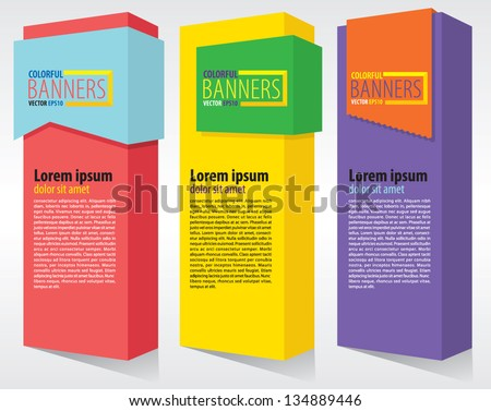 Colorful vertical banners.EPS10 - stock vector