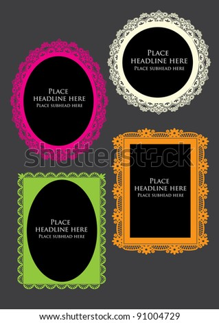 colorful victorian frames vector/illustration - stock vector