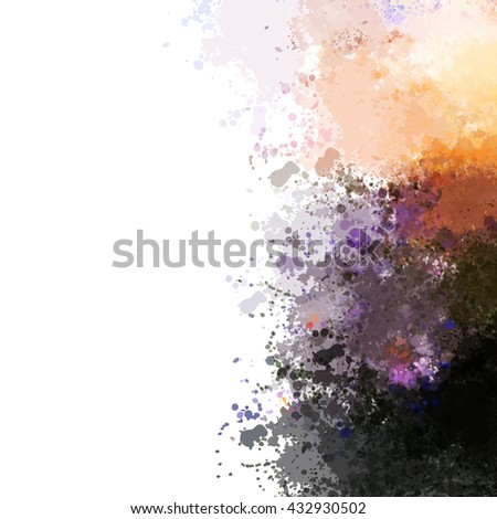 Colorful watercolor background. Watercolor vector texture, stains, splatter, splash. - stock vector