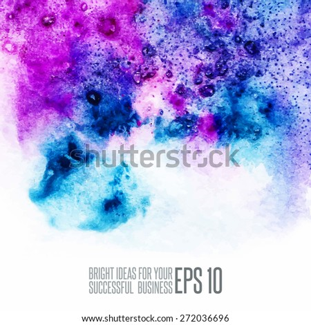 Colorful watercolor texture - stock vector