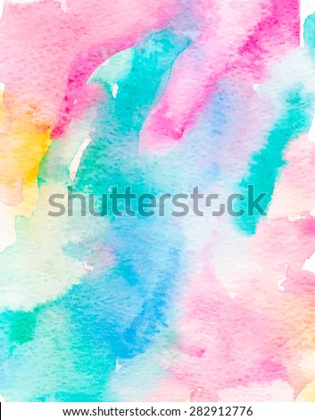 Colorful watercolor vector background. - stock vector