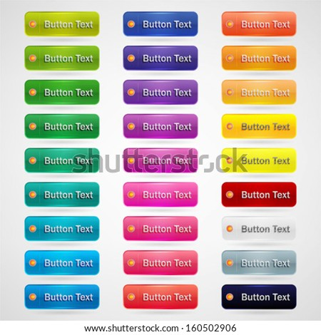 colorful web buttons set
