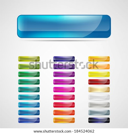 colorful web buttons set - stock vector