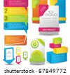 colorful web designing elements - stock photo