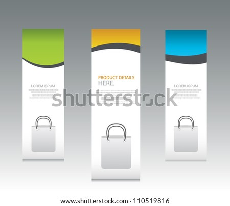 colorful web sale banners - stock vector