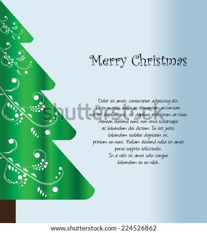 Colorful Winter Background - stock vector