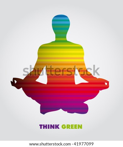 colorful yoga poster - stock vector