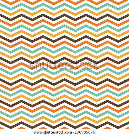 Colorful zig zag pattern, seamless vector - stock vector