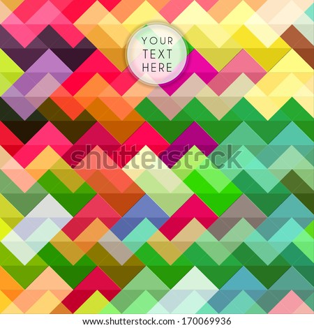 Colorful zigzag pattern, background - stock vector