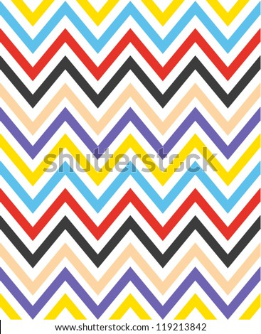 Colorful zigzag seamless pattern. Chevron pattern. Vector illustration - stock vector