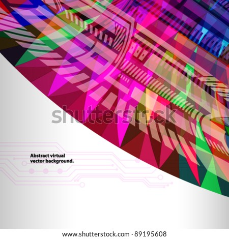 Colorfull abstract background. vector illustration - stock vector