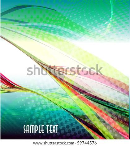 Colorfull abstract wavy vector design - stock vector