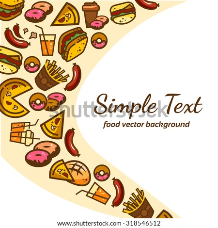 Colorfull fast food pattern background,vector illustration for your design. - stock vector