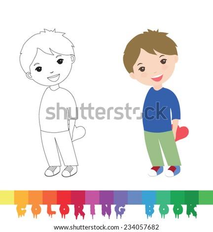 Coloring book - stock vector