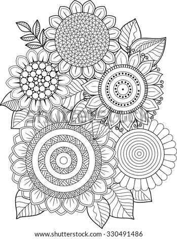 Coloring Book Adults Meditation And Relax T Shirt Graphic Design Print For Summer