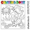 Coloring book bugs theme image 1 - vector illustration. - stock vector