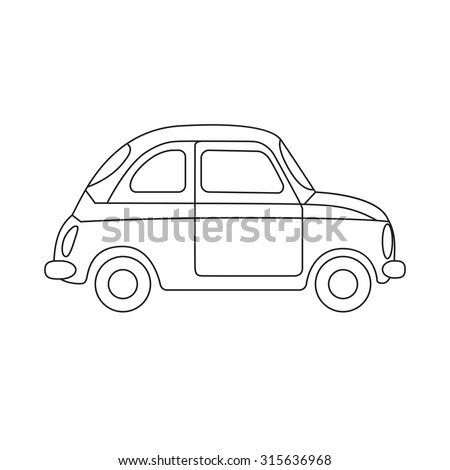 Coloring Book Car Children Vector Illustration Stock Vector (2018 ...