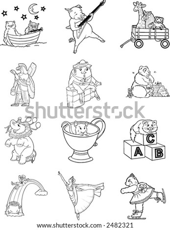 """story book character coloring pages   """"storybook Character"""" Stock Images, Royalty-Free Images ..."""