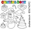 Coloring book Christmas topic 2 - vector illustration. - stock photo