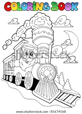 Coloring book Christmas topic 4 - vector illustration. - stock vector
