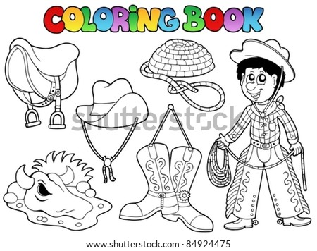 Coloring book country collection - vector illustration. - stock vector