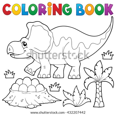Coloring book dinosaur topic 3 - eps10 vector illustration.