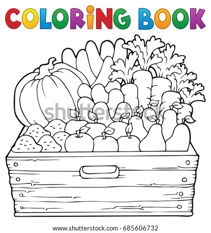 Coloring book farm products theme 1 - eps10 vector illustration.