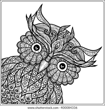 tattoo owl coloring pages - photo#35