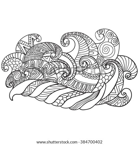 Coloring Book Adults Coloring Pagesvector Hand Stock Vector ...