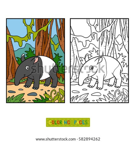 tapir coloring pages for kids - photo#37