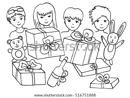 coloring book kids vector illustration celebration stock vector