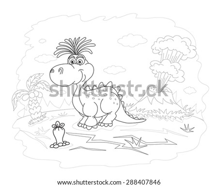 Zoo African Animals Cute Mother Hippo Stock Illustration 370990571