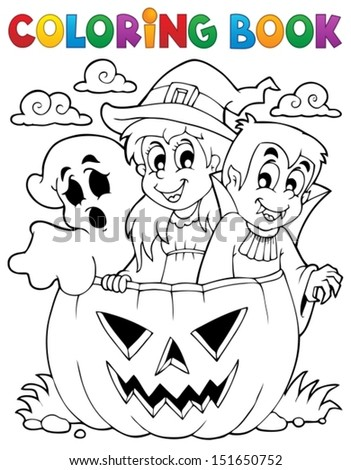 Coloring book Halloween character 5 - eps10 vector illustration. - stock vector