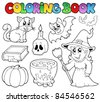 Coloring book Halloween collection - vector illustration. - stock vector