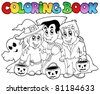 Coloring book Halloween topic 3 - vector illustration. - stock vector