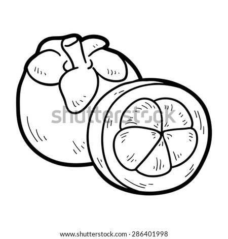 coloring book mangosteen