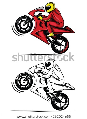 Bicycle Wheelie Cartoon