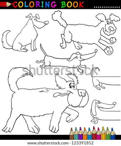 Set Eight Black Vector Outlines Funny Stock Vector 329712440