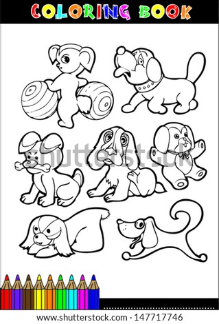 Coloring Books Coloring Pages Black White Stock Vector 147880301