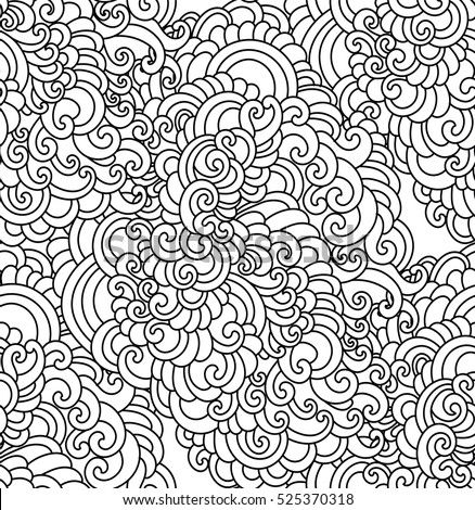 Coloring book page doodle pattern vector stock vector Coloring book background