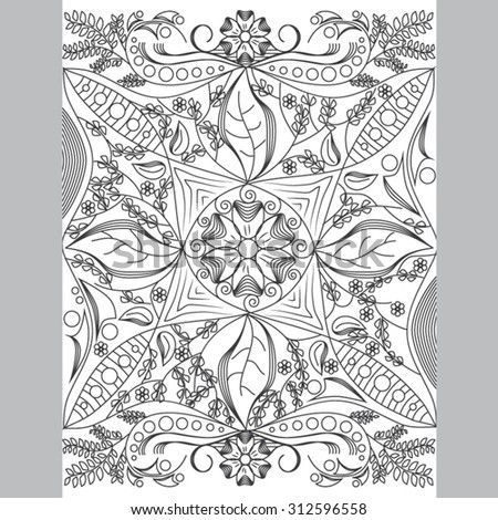Coloring Book Page For Grownups