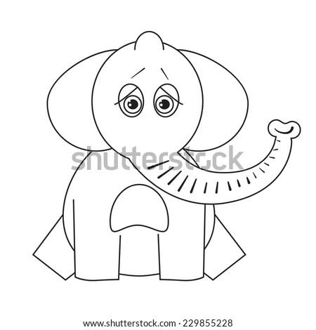 Coloring Book Sad Elephant