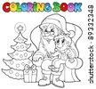 Coloring book Santa Claus theme 6 - vector illustration. - stock vector